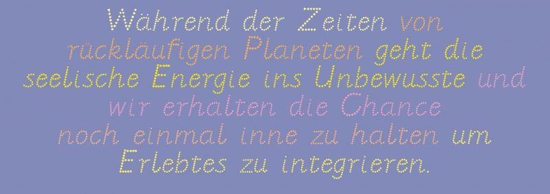 rückläufige Planeten Illustration Copyright Claudia Hohlweg