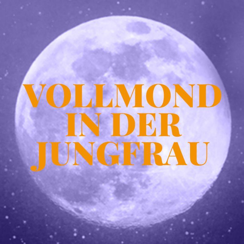 Vollmond in der Jungfrau, Illustration und © Claudia Hohlweg für Blumoon