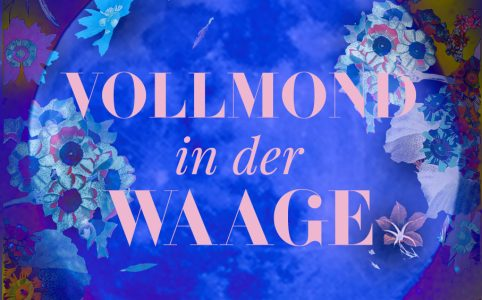 Vollmond in der Waage, Illustration und © Claudia Hohlweg für Blumoon