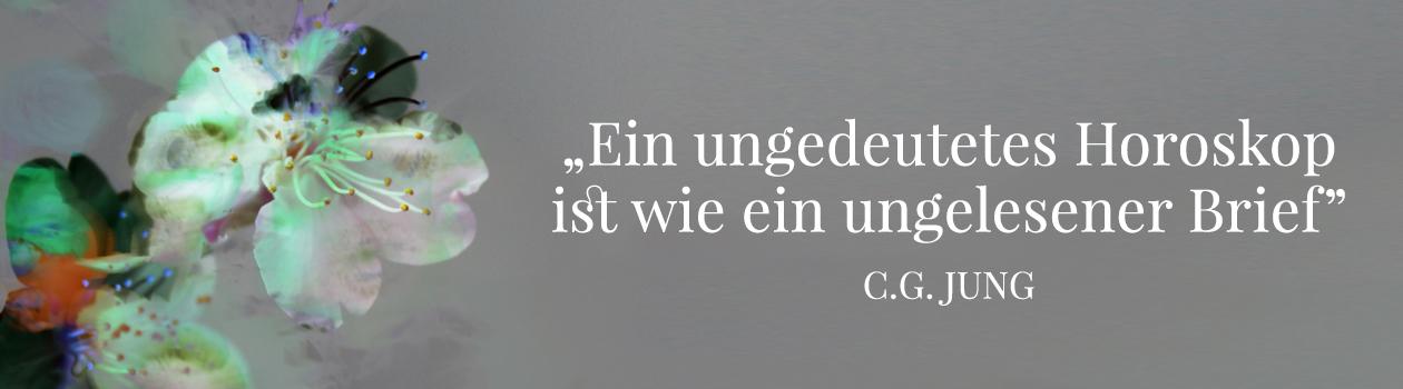 Zitat von C.G Jung zum Thema Astrologie, Illustration und © Claudia Hohlweg für Blumoon