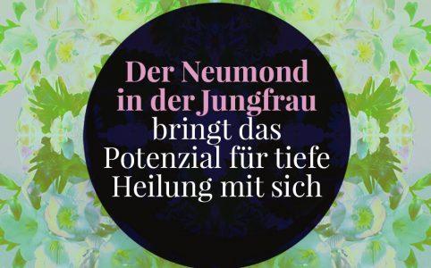 Farbige Illustration für den Jungfrau-Neumond