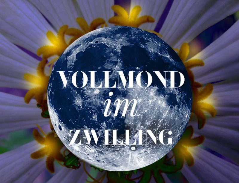 Illustration zum Zwilling-Vollmond