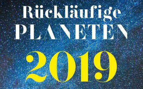 Farbige Illustration für die rückläufigen Planeten 2019