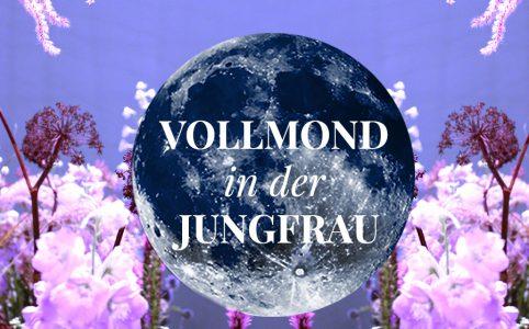 Illustration für den Vollmond in der Jungfrau