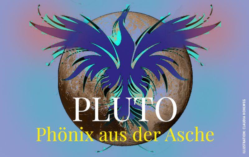 Farbige Illustration für den Beitrag über Pluto