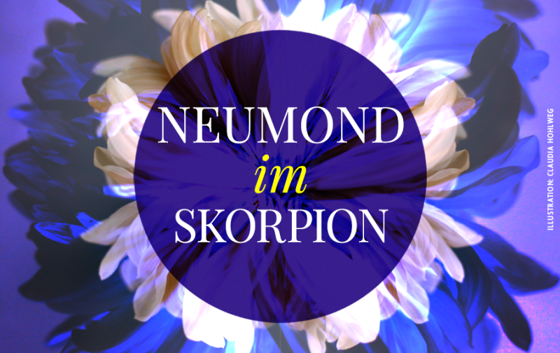 Illustration zum Neumond im Skorpion