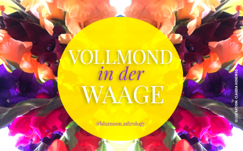 Illustration für den Vollmond in der Waage