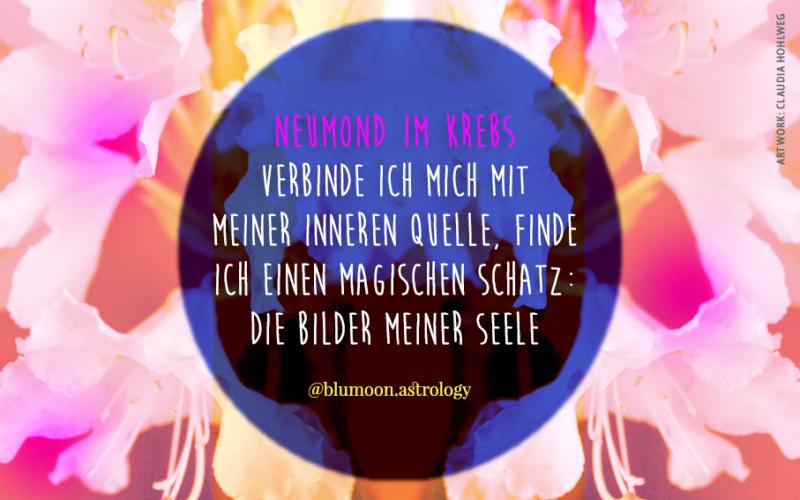2021 Neumond im Krebs, Artwork und © Claudia Hohlweg für Blumoon