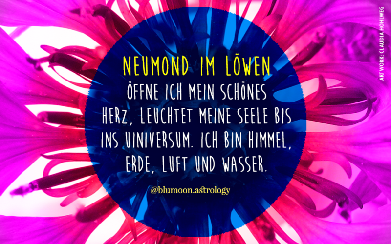2021 Neumond im Löwen, Artwork und © Claudia Hohlweg für Blumoon